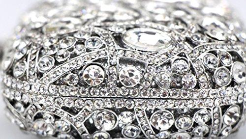 Borsa Borsa Catena Di Diamante Di Sera Delle Signore Metallo Cavo Ms. Borse Pacchetto Silver