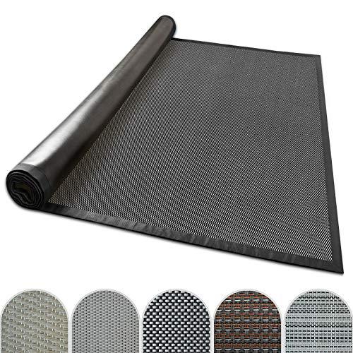 casa pura Outdoor-Teppich mit Bordüre | ideal für Terrasse, Balkon, Garten, Küche, Flur | aus Kunststoff wetterfest und rutschsicher | Viele Größen und Farben (Lucca, 200x290 cm)