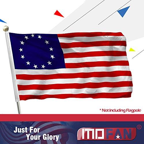 MOFAN Betsy Ross Flagge Uns Polyester strapazierfähig und Vivid Hell, mit 2Tüllen Massiv Indoor/Outdoor Home Garten Dekoration 3x 150 -