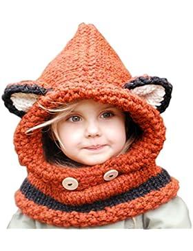 Unisex Cappello cappellini sciarpa incappucciata Autunno Inverno per Ragazzi Ragazze Bambino, URAQT sciarpe cappello...