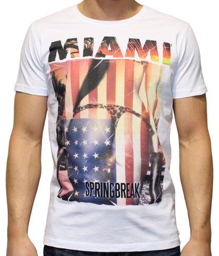40by1, Herren T-Shirt, Miami Spring Break, Sexy String Tanga, White, 40/1-12-025, GR XXL