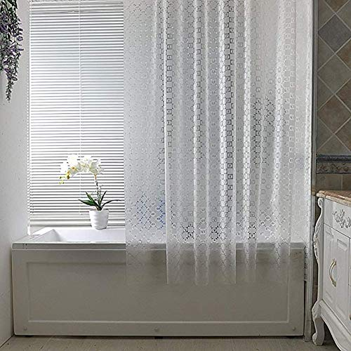 rideau de douche EVA en Tissu translucide Rideau d'eau Rideau imperméable Coupe Le Rideau Rideau de climatisation Rideau de Salle de Bain givré 3D,150 * 180cm