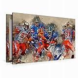 Leinwand American Football 120x80cm, Special-Edition Wandbild - 3
