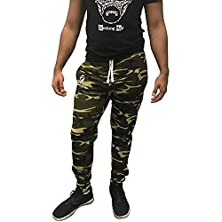Fitted sudor pantalones | pantalones deportivos Bodybuilding pantalones de deporte gimnasio - SweatPants_M_Camo, Camo
