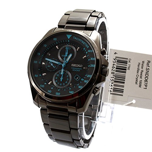 seiko-mens-gents-sndd67p1-graphite-ion-plated-chronograph-blue-features-bracelet-wrist-watch