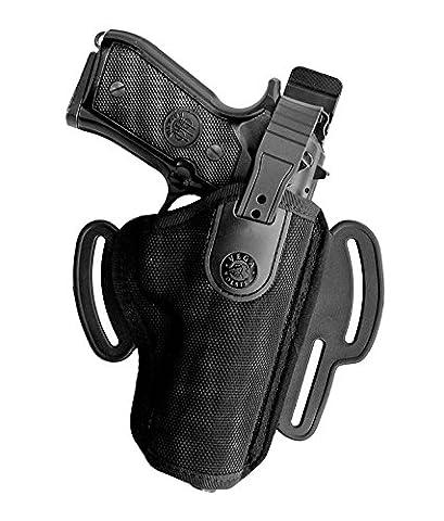 fh208–Holster ceinture côtés Colt Python (4pouces), Nero Sinistra