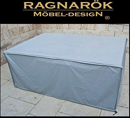 Preisvergleich Produktbild Ragnarök-Möbeldesign Schutzabdeckung Gartenmöbel Schutzhülle für Modell HEIMDALL 6+4 Husse Schwere LKW Plane Maßgefertigt Wetterschutz Abdeckung Abdeckhaube