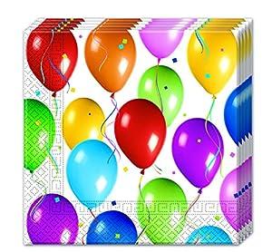 Procos 9949-Servilletas papel Balloons Fiesta, Multicolor