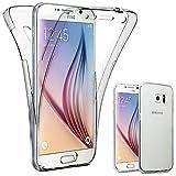 ebestStar - Compatible Coque Samsung S6 Galaxy SM-G920F, G920 Etui Housse Silicone Gel Intégrale Avant et Arrière, Transparent [Appareil: 143.4 x 70.5 x 6.8mm, 5.1'']