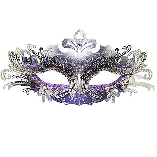 SZTARA Abschlussball Partei Laser Cut Metall Filigran venetianische Maskerade mit Strass (Italienische Masken Maskerade)