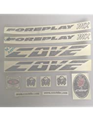 Cove Foreplay MX Replacement Frame Decal Kit Sticker Black Pre 2010