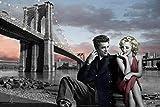 Poster Marilyn Monroe und James Dean in Brooklyn - Größe 61 x 91,5 cm - Maxiposter
