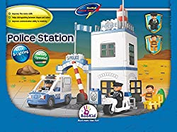 Building Blocks, Police Station. Battery Operated Police Car With Lights And Sound