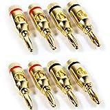 Best Electronics World Electronics World Banana Plugs - 8x Premium - 4mm Banana Plugs - 24k Review