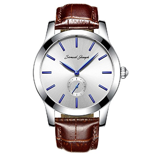 samuel-joseph-bespoke-mens-43mm-wrist-watch-master-crafted-with-white-dial-steel-case-and-brown-leat