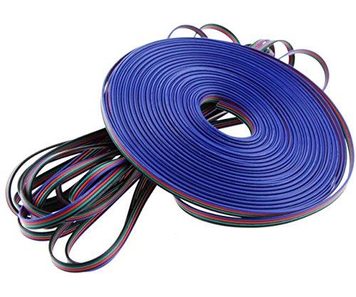 Wilkinson. SALES Premium Verlängerung 4pol Core 5050/3528LED RGB Connector Kabel Draht 1–100m Längen, 20 Meter (Lautsprecher-draht-verlängerungskabel)