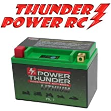 Batería de litio Power Thunder Lithium hjtx9-fp-i para Suzuki GSR 6002006–201012V (compatible con Yuasa YTX9-BS–YTR9-BS) Código Color ptl-7