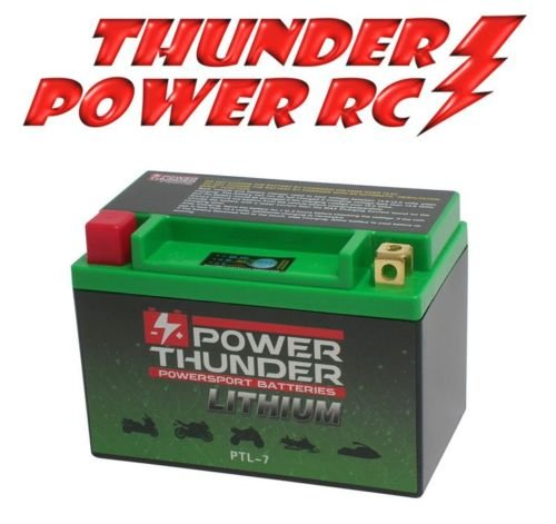 Preisvergleich Produktbild Lithiumbatterie Power Thunder Lithium hjtx9-fp-i für SYM HD E2 Evo 200 2005 – 2006 12 V (entspricht YUASA YTX9 – ytr9-bs) Code: ptl-7