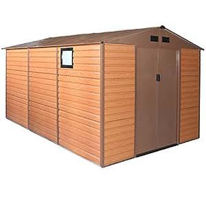 Box Casetta casa giardino doppio spessore lamiera 340x382xh225cm FOREST XXL-PLUS