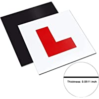 Onarway Fully Magnetic Car L-Plates Red L Plate 2 Pack for Car Magnetic Extra Thick Strong Learner Plates, No Melting No…