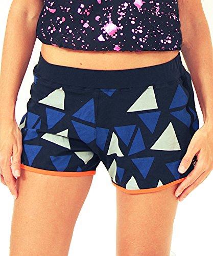 0070ae68cb281 Prancing Leopard Mujer Yoga Pantalones Cortos