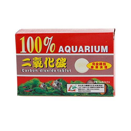Biniwa Pflanzentabletten, CO2, Kohlendioxid, für Pflanzen, Aquarium, Aquarium, Diffusor, 36 Stück