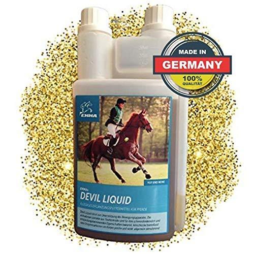 EMMA ⭐ Teufelskralle Liquid Pferd Flüssig Pferdefutter für die Gelenke I Beweglichkeit & Gelenkpflege Pferde I auch für Senioren 1 Liter