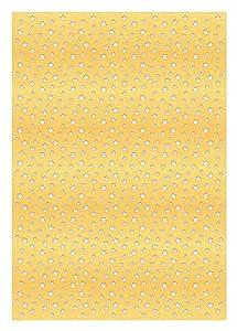 Ursus 60960001 Silhouetten - Cartón de cartón, 10 Hojas, 300 g/m², Aprox. 23 x 33 cm, diseño Grabado con láser, para Decoraciones Festivas, Tarjetas de Navidad y para Decorar Regalos, Oro Mate