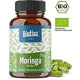 Moringa organique Gélules (BIO, 150 pièces) - 500mg par gélule - 2 mois d'approvisionnement - sans additifs -...