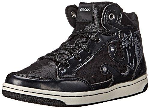 Geox JR CREAMY A Mädchen Hohe Sneakers Schwarz (C9999BLACK)