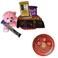SFU E Com Holi Chocolate Basket Hamper   Holi Special Chocolate Gift   Premium Chocolate Hamper   Holi Pooja Thali   Pack of Chocolate Box-1   302