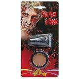 Halloween Schminkset Modellierwachs und Kunstblut Fakeblut mit Hautwachs Zombie Schminken