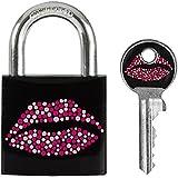 Master Lock 3430EURDKISS Cadenas vestiaire Motif Kiss Noir 30 mm
