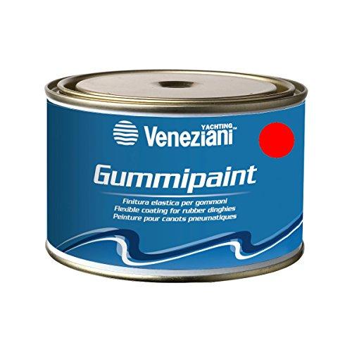 Veneziani Gummipaint Bootslack für Schlauchboote - rot 311, 375ml