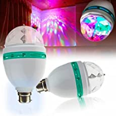 Ivaan™ 360 Degree LED Crystal Rotating Bulb Magic Disco LED Light,LED Rotating Bulb Light Lamp for Party/Home/Diwali Decoration