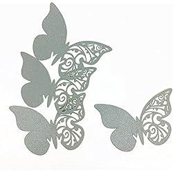 50 mariposas marcasitios de boda en gris - más colores a elegir