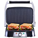 Netta 2 Slice Panini Maker & Health Grill, Sandwich Toaster Toasties with Non-Stick