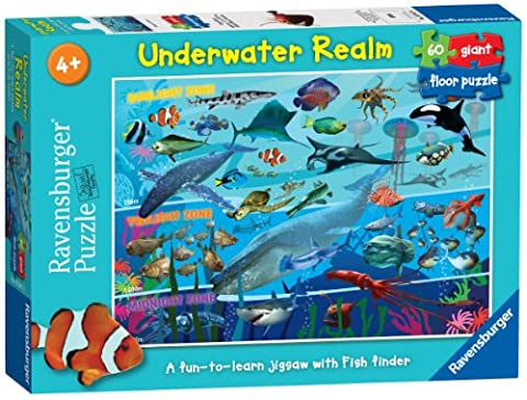 Ravensburger 7347 Underwater Realm 60 Pieces Giant Floor Jigsaw