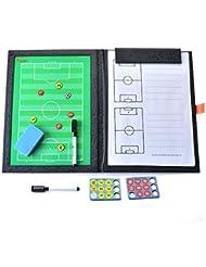 Plaque tactique - SODIAL(R)Entraineur tactique plaque tactiques tableau magnetique de sport pour football