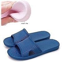 Slip On Pantofole Doccia Antiscivolo Sandali House Schiume Mule suola scarpe Piscina Bagno Slide per adulti, darkblue, uk 7.5-8.5(outsole 11
