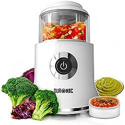 Duronic CH500 Mini Hachoir électrique de 500W 4 lames avec racloir innovant – Mixeur multifonction capacité 400 ml – Moulinette idéale pour viande, fruits et légumes