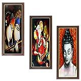 #9: Wens Religious MDF Wall Art (43 cm x 18 cm x 1 cm, Set of 3)
