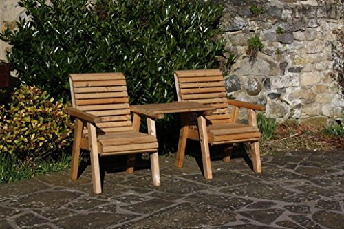 Garden Furniture/Patio Set High Back Roll Top Love Seat Bench Solid Wood