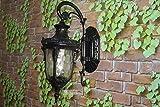 VC-outdoor - lampe, retro - europäischen stil wand lampe, eingang einer gartenmauer lampe,schwarz