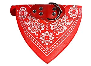 Incendemme Foulard Collier Bandana Reglable Chien Chat Mode de Chiot Chat Mignon Chaton--XXL Rouge