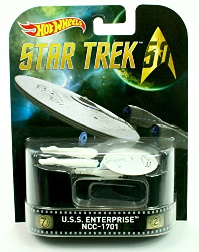 U.S.S. Enterprise NCC-1701 Star Trek Hot Wheels 1:64 Retro Entertainment Die Cast