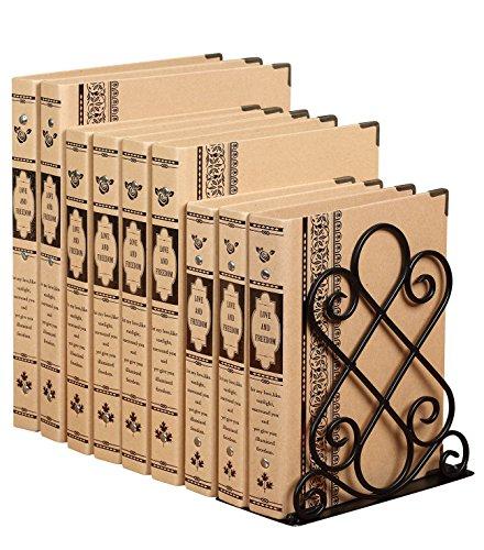 Antike Design Groß Buchstützen aus metall - Dekorativ Buchstütze Home - 180 x 200 x 220mm - Schwer und stabil bookends -