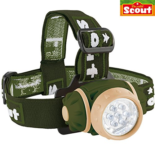 LED Stirnlampe mit 7 leistungsstarken LED´s, größeneinstellbare Kopfbänder || Kinder Entdecker Lampe LED Kopflampe Stirn Lauflampe Camping