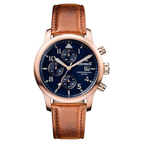 Ingersoll Herren Analog Automatik Uhr mit Leder Armband I01502