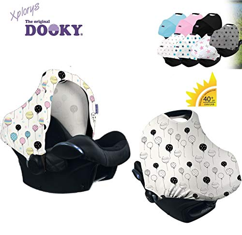 Original dooky Hoody–* * Style UV + MAGIC Balloons Cambio de color * * universal Capota/techo para Maxi Cosi Cabrio/cabriofix/Pebble/Citi, Römer y otros sillitas Grupo 0+ como protección solar/Wind Protección/Sol techo/Capota